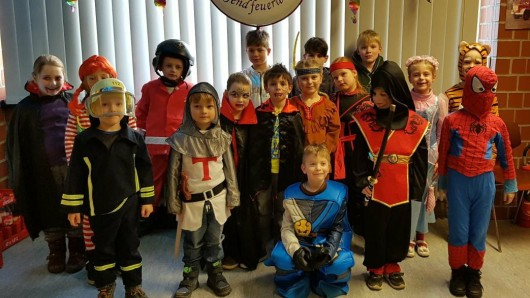 Die Kids der Wolfenbütteler Feuer-Wölfe,