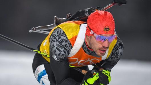 Arnd Peiffer auf dem Weg zu seiner zweiten Medaille.