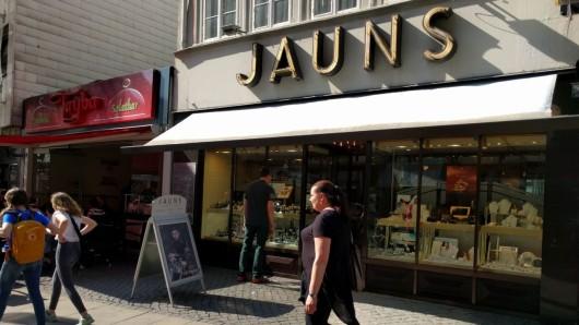 Das Juweliergeschäft Jauns in der Braunschweiger Innenstadt.