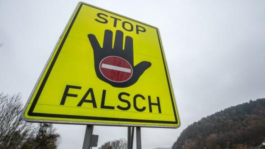 Auf der A2 in Niedersachsen war ein Falschfahrer unterwegs – 60 Kilometer lang.