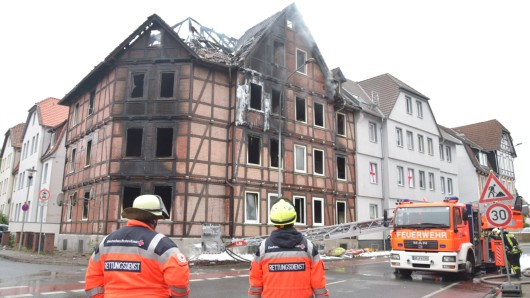Das gesamte Fachwerkhaus brannte ab.