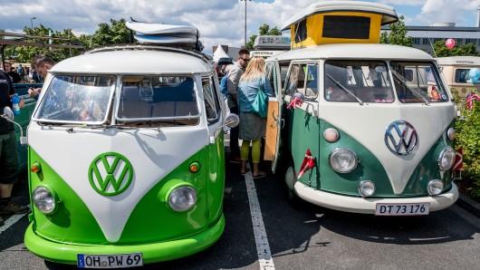 Die Kult-Oldtimer von VW erfreuen sich weltweit großer Beliebtheit (Archivbild).