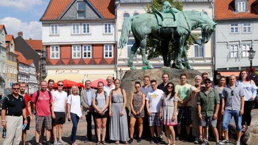 Die US-amerikanischen Studenten machen Wolfenbüttel unsicher.