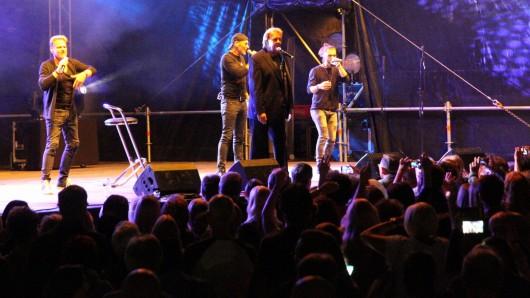Howard Carpendale während seines Auftritts in Salzgitter.