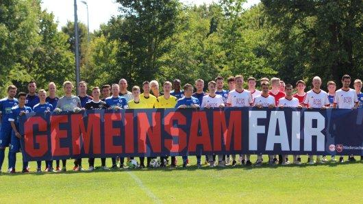SV Lengede und der Goslarer SC setzen ein Zeichen gegen Intolleranz.