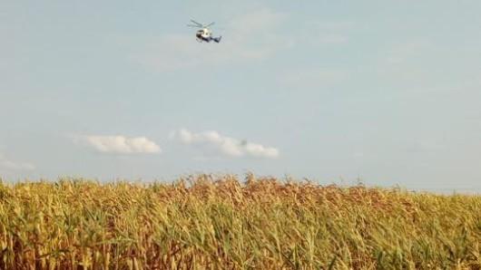 Auch ein Hubschrauber war im Einsatz.