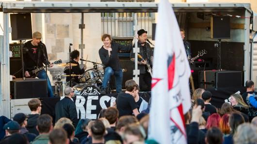Campino und die Toten Hosen waren schon im März 2017 in Sachsen – damals bei einer Anti-Pegida-Demo in Dresden.