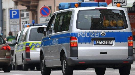 Die Polizei Sachsen-Anhalt in Aktion (Archivbild).