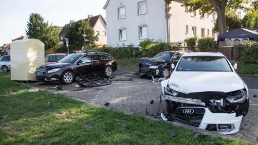 Schwerer Unfall auf der Danziger Straße in Salzgitter-Thiede.