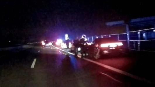 Ein Standbild aus dem Video einer Dashcam zeigt den Moment der Festnahme.