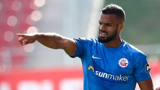 Phil Ofosu-Ayeh stand bisher erst in fünf Spielen für Rostock auf dem Platz.