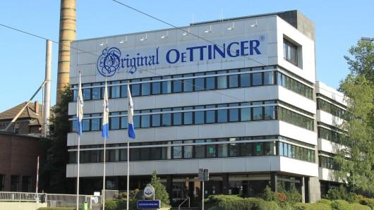 Die Zweigniederlassung der Brauerei Oettinger in Braunschweig.