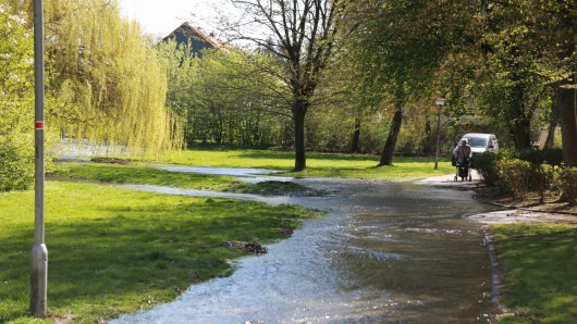 Im Bereich Sternbergstraße in Salzgitter bekommen Spaziergänger aktuell nasse Füße.