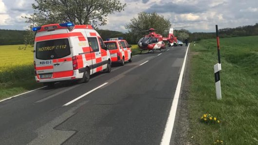 Nach dem schweren Unfall in Goslar wurde die Frau (52) mit einem Rettungshubschrauber in die Klinik gebracht.