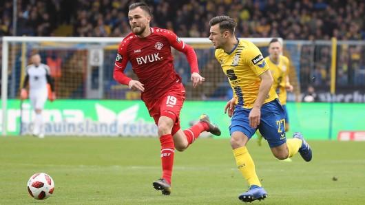 Orhan Ademi (links, Würzburger Kickers) und Niko Kijewski (Eintracht Braunschweig) sind bald wieder Mannschaftskollegen.
