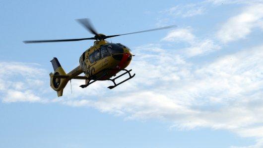 Unfall auf A2: Rettungshubschrauber muss nach Unfall landen.