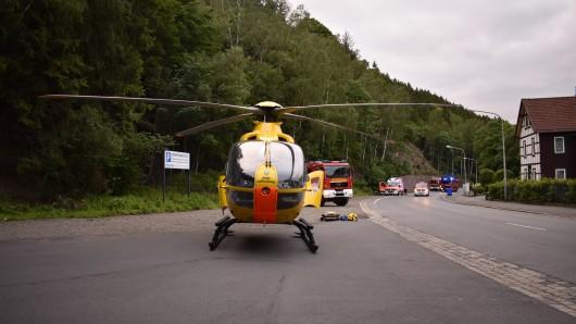 Auch ein Rettungshubschrauber war in Oker im Einsatz.