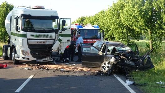 Tödlicher Unfall bei Helmstedt auf der B245.
