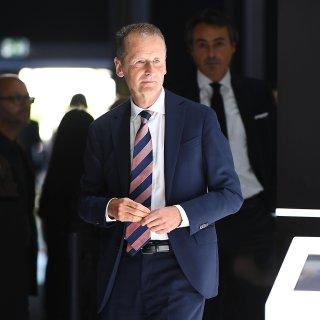 VW-Chef Herbert Diess  war auf der IAA in FRankfurt anstatt beim Prozess in Duisburg.