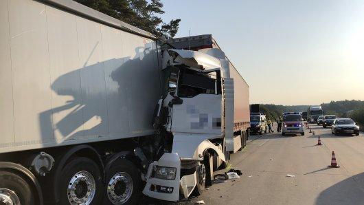 Drei Unfälle auf der A2 sorgten am Mittwochmorgen für Chaos, wie hier zwischen Burg-Zentrum und dem Rastplatz Krähenberge Nord.