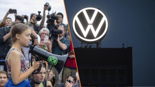 Greta Thunberg is not amused: VW hat Werbung mit einem Bild der Klima-Aktivistin gemacht.