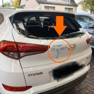 Der Hyundai hatte am Wochenende an der Kaiserstraße in Salzgitter geparkt.