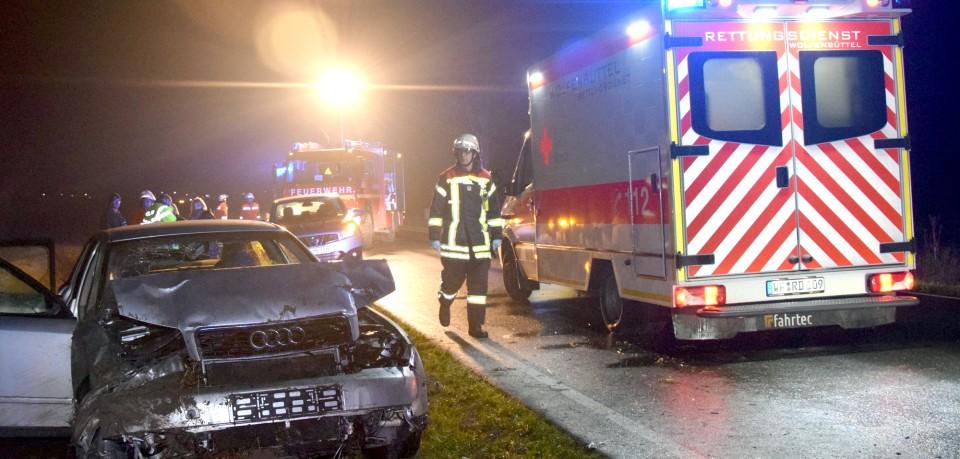 Auf der B79 im Landkreis Wolfenbüttel kam am Sonntagabend ein Audi von der Straße ab.
