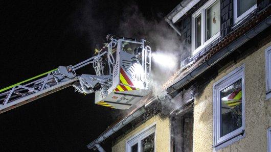 Die Feuerwehr verhinderte, dass das Wohnhaus in Salzgitter komplett in Flammen aufging.