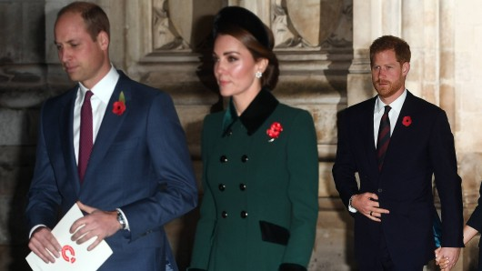 Kate Middleton, Prinz William und Prinz Harry.