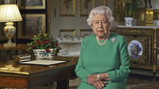Queen Elizabeth II. sprach am Sonntagabend zum britischen Volk.