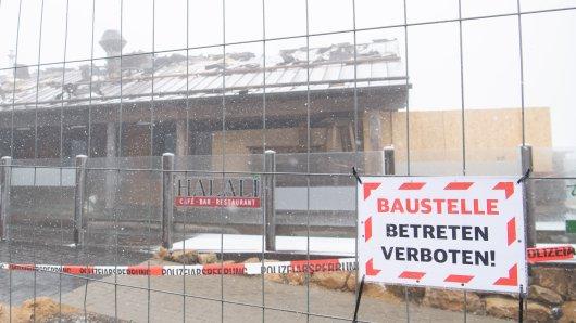 """Einen Tag vor der Wiedereröffnung ist es im """"Halali in Torfhaus im Harz zu einem Großbrand gekommen."""