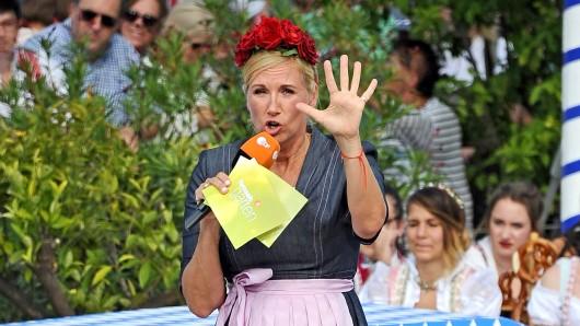Andrea Kiewel präsentiert am Wochenende gleich zwei Mal den Fernsehgarten.