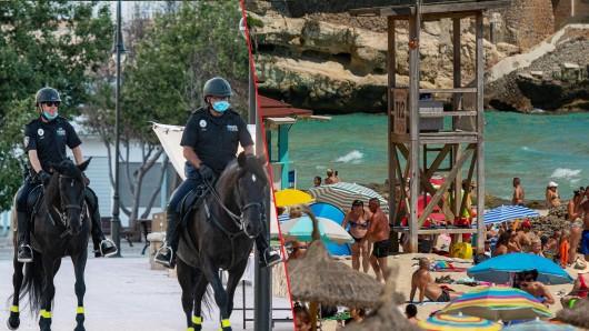 Auf Mallorca kämpft die Polizei gegen illegale Partys.