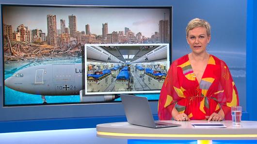 """Karen Heinrichs musste im """"Frühstücksfernsehen"""" als Nachrichtensprecherin einspringen."""