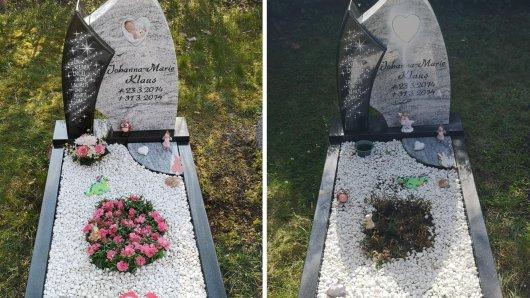 Im Kreis Gifhorn ist innerhalb kürzester Zeit zweimal ein Babygrab geschändet worden.