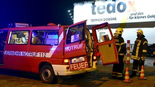 Die Feuerwehr Wolfenbüttel  war am Abend bei Tedox im Einsatz.