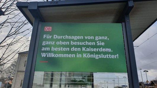 EineNeue Werbestrecke der Deutschen Bahn in Königslutter sorgt für Aufruhe.