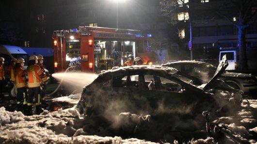 In Braunschweig brannte in der Osternacht ein Pkw.