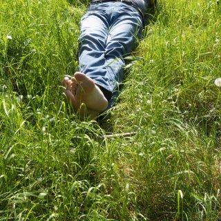 Der verletzte Mann lag im Kreis Helmstedt an einem Feld. (Symbolbild)