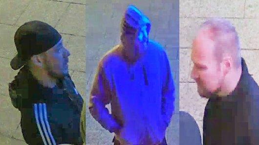 Diese drei Männer sollen brutale Schläger sein. Jetzt sucht die Polizei Braunschweig öffentlich nach ihnen.