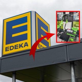 Der Edeka in Braunschweig hat aufgerüstet.
