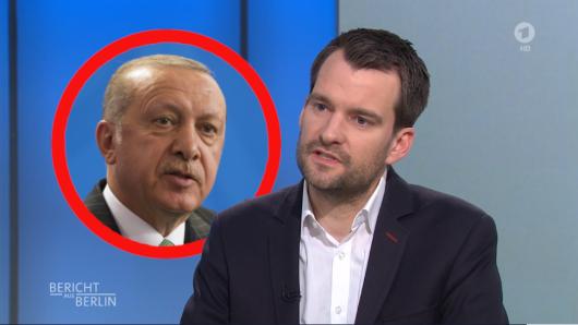 FDP-Politiker Johannes Vogel macht den türkischen Präsidenten  Recep Tayyip Erdogan für die antisemitischen Demonstrationen in Deutschland mitverantwortlich.