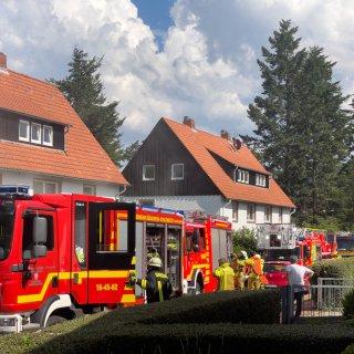 Feuerwehr aus dem Harz rettet zwei Menschen aus dem Haus.