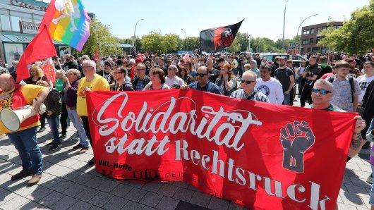 In Hör- und Sehweite verfolgte das Bündnis #wirsindmehr! - Salzgitter passt auf! der AfD.
