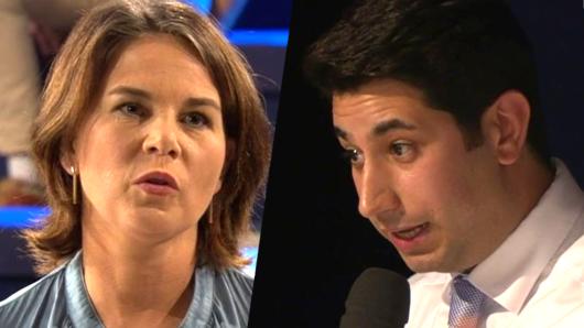 Annalena Baerbock beantwortete Fragen von Wählerinnen und Wählern in der ARD-Wahlarena.
