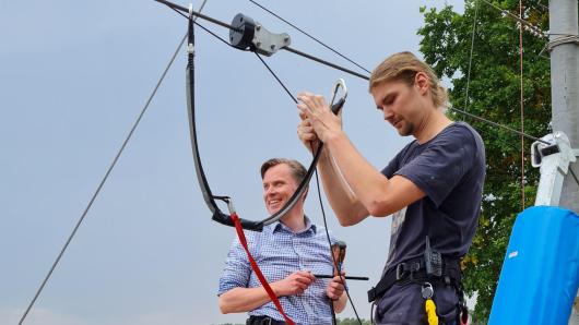 Kreis Gifhorn: Landrat Dr. Andreas Ebel bei der Eröffnung des neuen Angebots am Tankumsee.