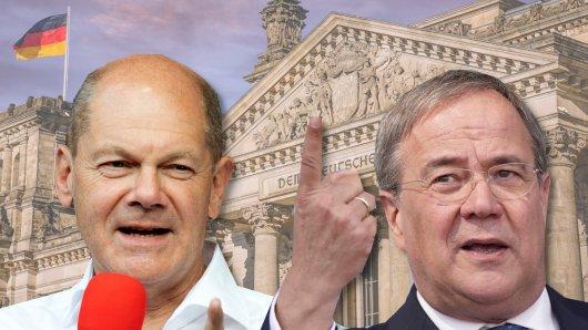 Kopf-an-Kopf-Rennen in letzten Umfragen vor der Bundestagswahl zwischen Olaf Scholz und Armin Laschet.