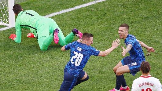 EM 2021: Überraschender Slowakei-Treffer gegen Polen in der ersten Halbzeit.