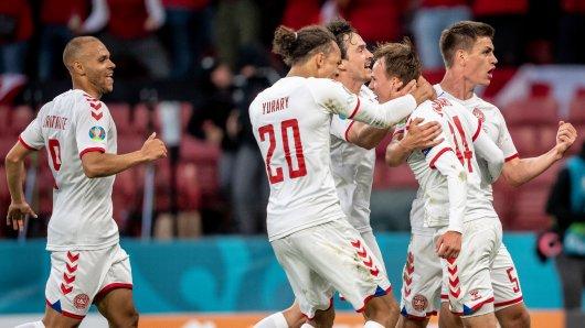 Dänemark zieht bei der EM 2021 ins Achtelfinale ein.