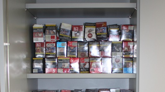 900 Schachteln Zigaretten wurden gefunden.